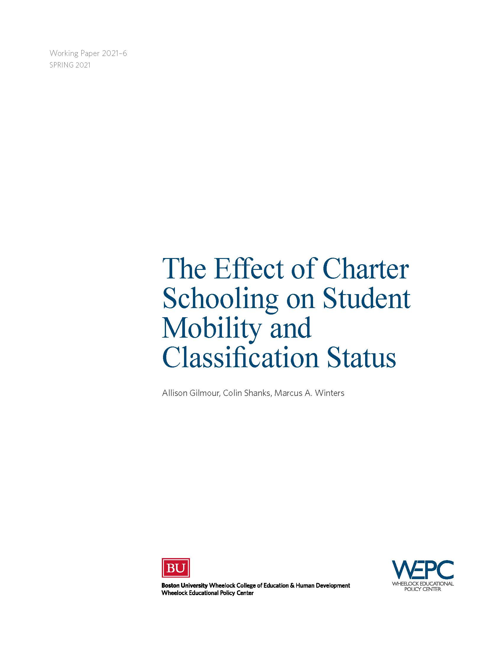 Charter Schooling Effect On Student Mobility